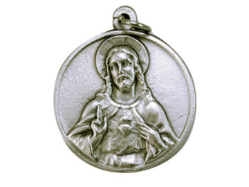 Medallón Sagrado Corazón 3cm  fundicion