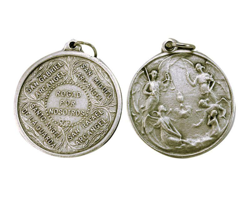 Medallón Ángeles Custodios 3cm  fundicion