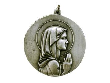Medallón Virgen Niña 4cm  fundicion