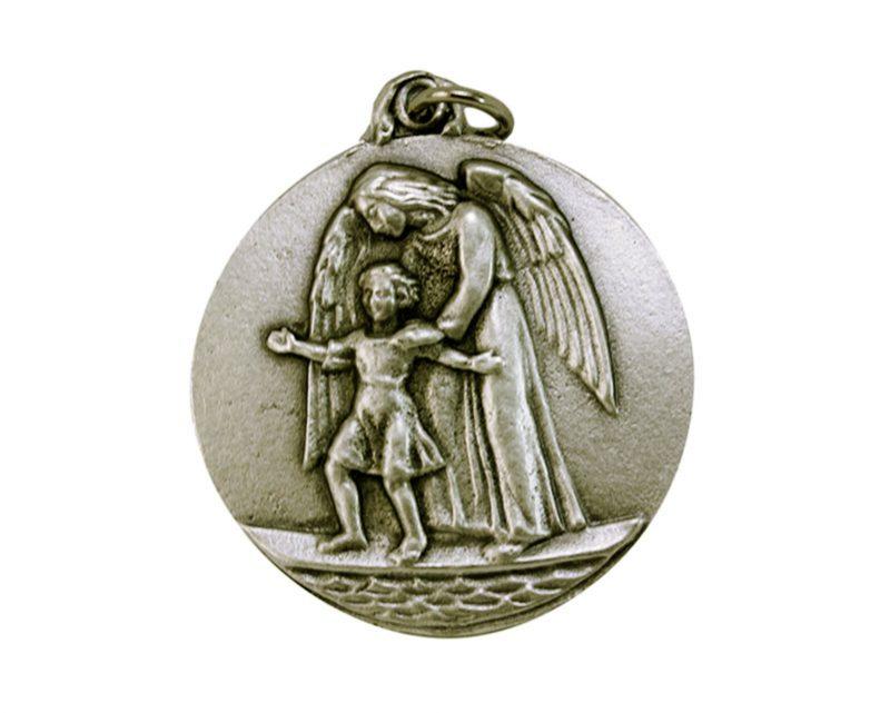 Medallón Ángel de la Guarda 4cm  fundicion