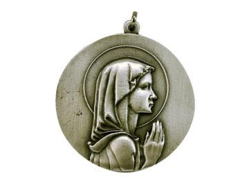 Medallón Virgen Niña 4,3cm  fundicion