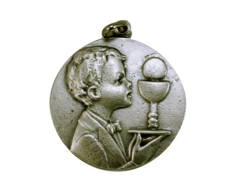 Medallón comunión varón 4,3cm  fundicion