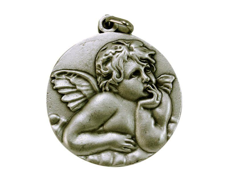 Medallón Ángel Rafael 4,3cm  fundicion