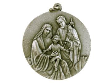Medallón Sagrada Familia 6cm  fundicion