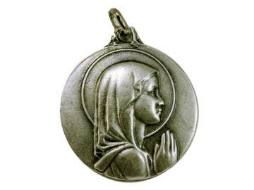 Medallón Virgen Niña 6cm  fundicion