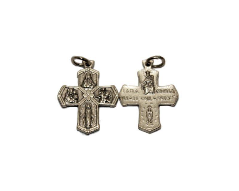 Cruz santos 26mm. Italiana. metal
