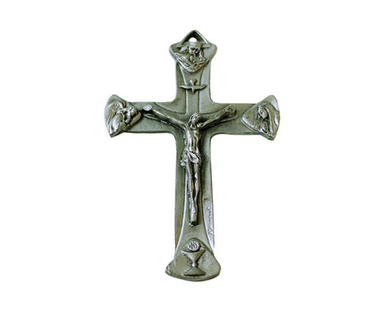 Crucifijo de pared - metal de metal 12cm