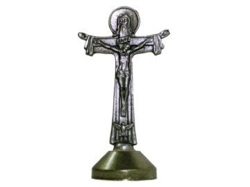 Crucifijo de pared - metal Cruz Santísima Trinidad 6cm