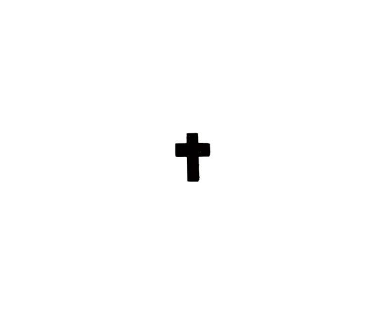 Cruz lisa madera oscura mini s/cordón - 2cm