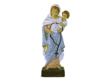 Estatua Virgen Rosario de San Nicolás 12cm. PVC