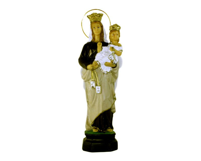 Estatua Virgen del Carmen 30cm PVC