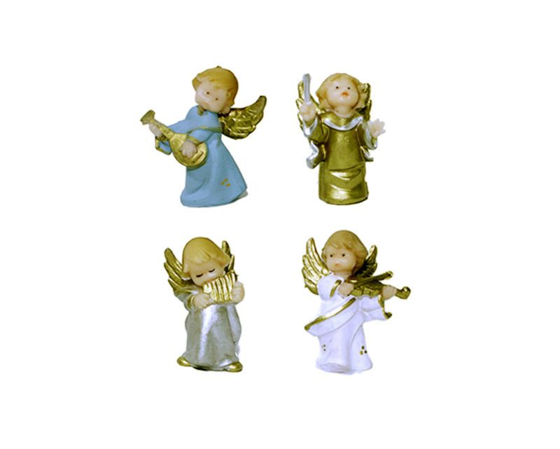 Estatua Angelito musical 5cm PVC. Colores varios