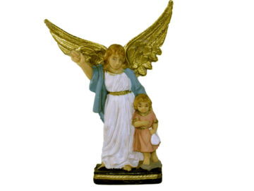 Estatua Ángel de la Guarda 15cm. PVC