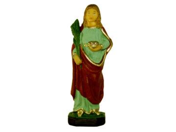 Estatua Santa Lucia 15cm p/pesebre