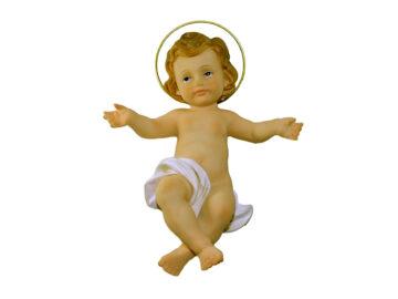 Estatua Niño Jesús resina 23cm Santini