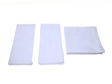 Juego de corporal purificador y lavabo en batista de algodón