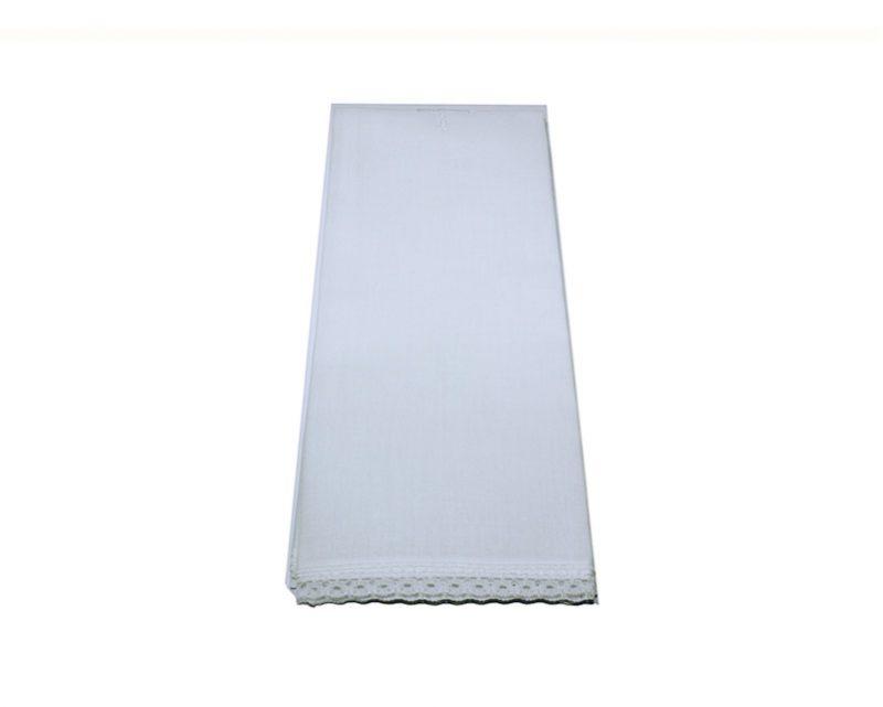 Purificador blanco de batista de algodón. 45x25cm