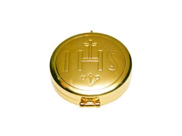 Teca tipo reloj c/baño oro 1,5x5cm (p/aprox. 10 hostias)