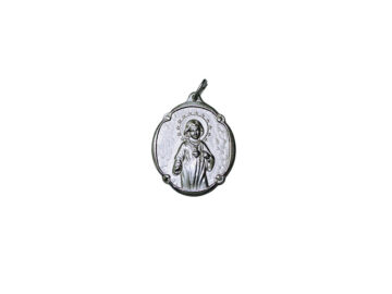 Virgen Niña Antigua. 14mm Medalla de alpaca