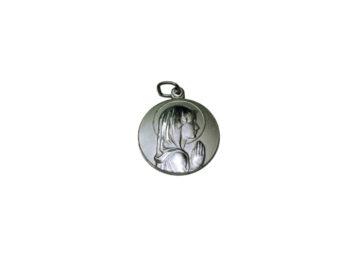 Virgen Niña. 14mm Medalla de alpaca