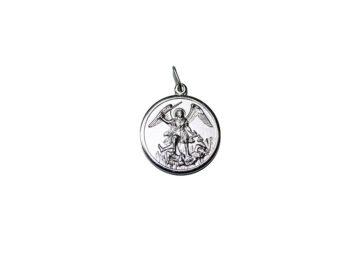 San Miguel Arcángel. 16mm Medalla de alpaca
