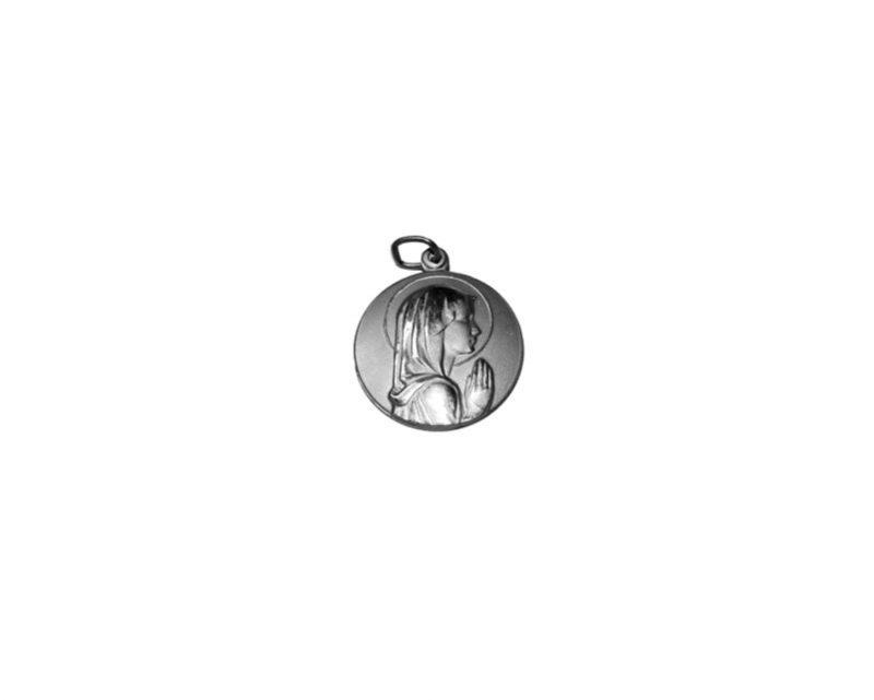 Virgen Niña.  30mm Medalla de alpaca