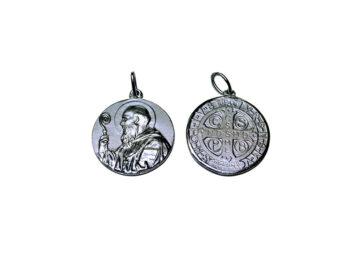 San Benito. 12mm Medalla de alpaca