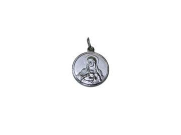 Corazón de María. 20mm Medalla de alpaca