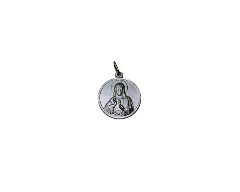 Sagrado Corazón de Jesús. 20mm Medalla de alpaca