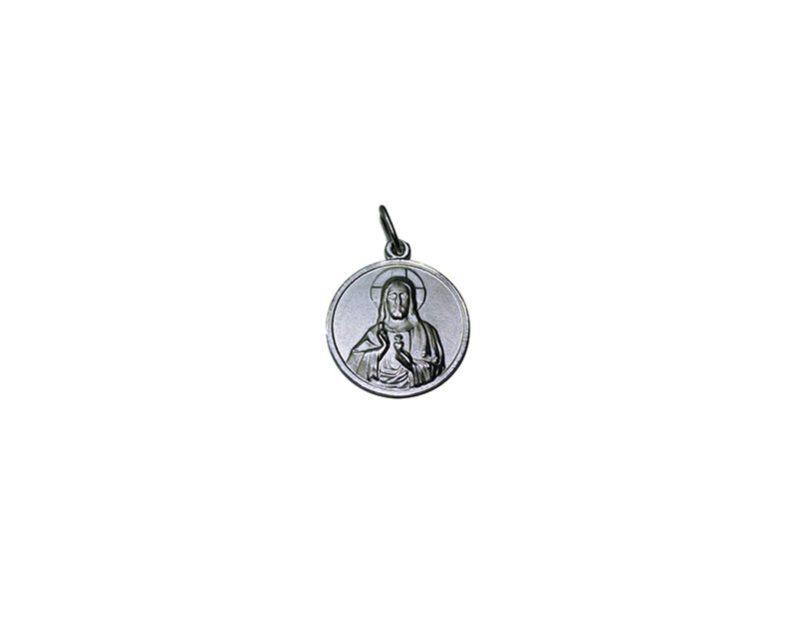 Sagrado Corazón de Jesús. 22mm Medalla de alpaca