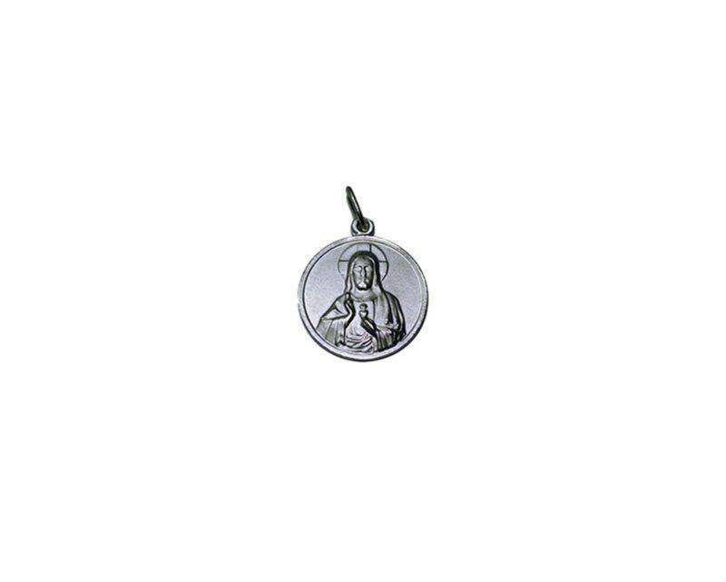 Sagrado Corazón de Jesús. 26mm Medalla de alpaca