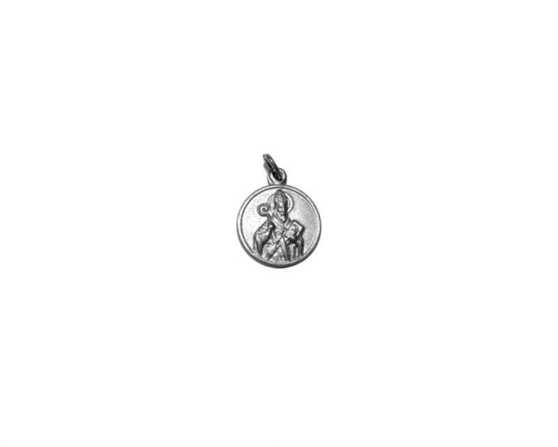San Agustín. 22mm Medalla de alpaca