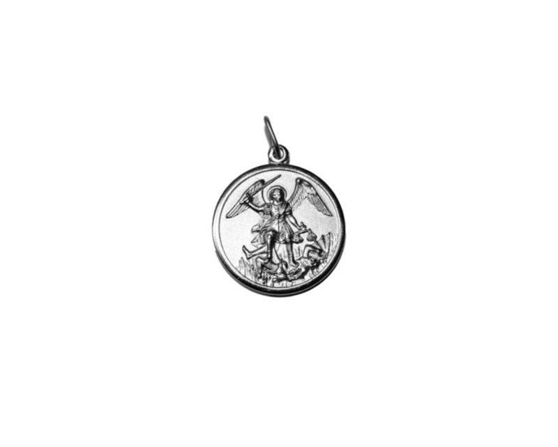 San Miguel Arcángel. 18mm Medalla de alpaca