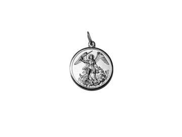 San Miguel Arcángel. 33mm Medalla de alpaca