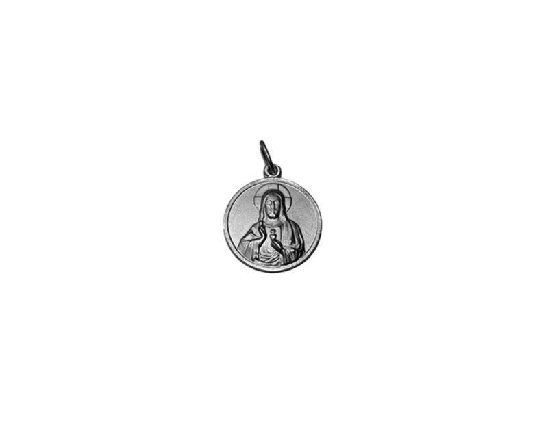 Sagrado Corazón de Jesús. 40mm Medalla de alpaca