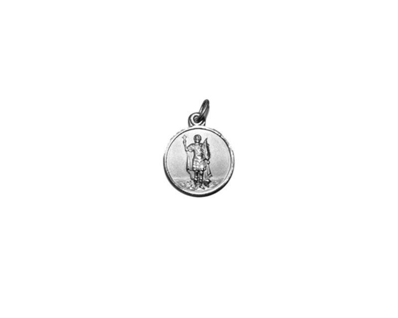 San Expedito. 22mm Medalla de alpaca