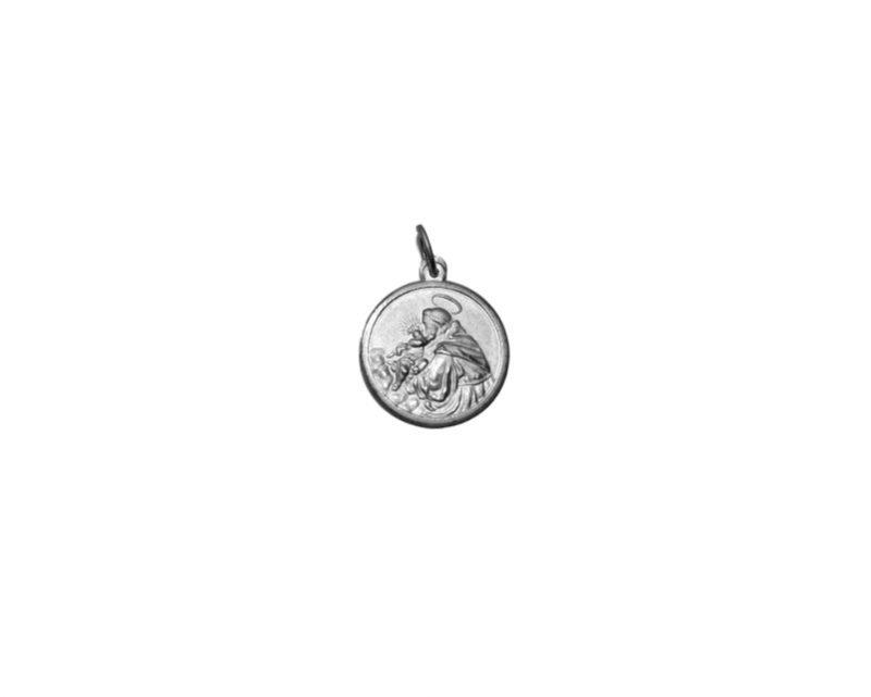 San Antonio. 22mm Medalla de alpaca