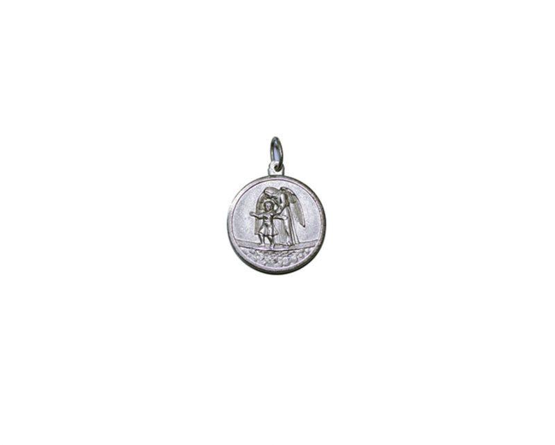 Ángel de la Guarda. 24mm Medalla de alpaca