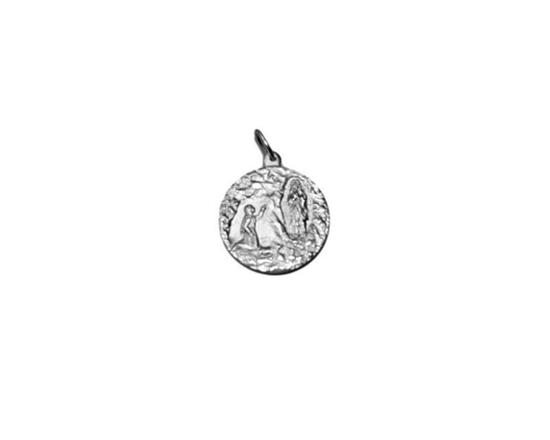Nuestra Señora de Lourdes 24mm Medalla de alpaca