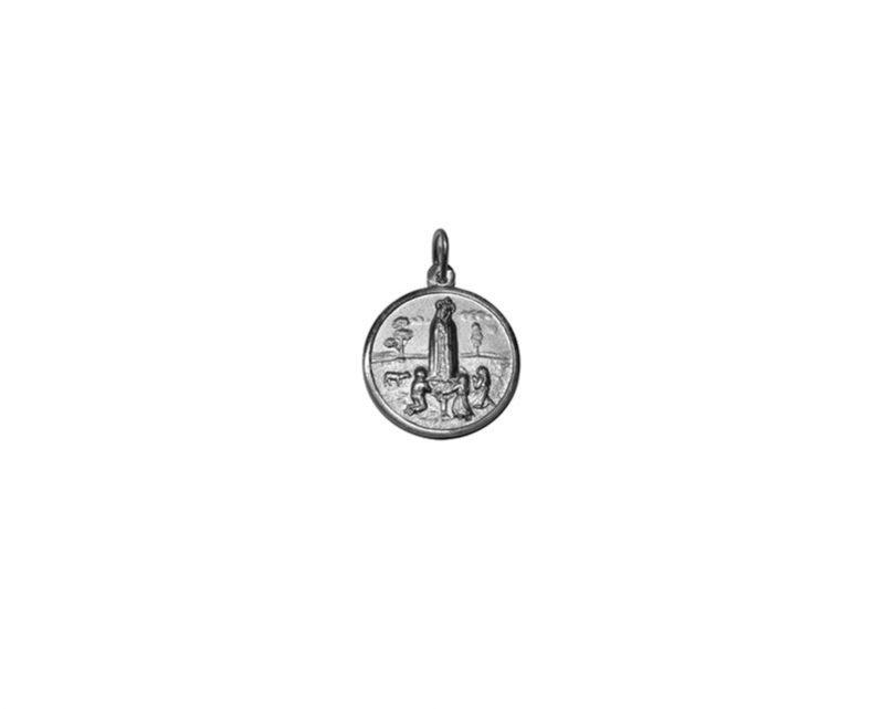 Virgen de Fátima. 26mm Medalla de alpaca