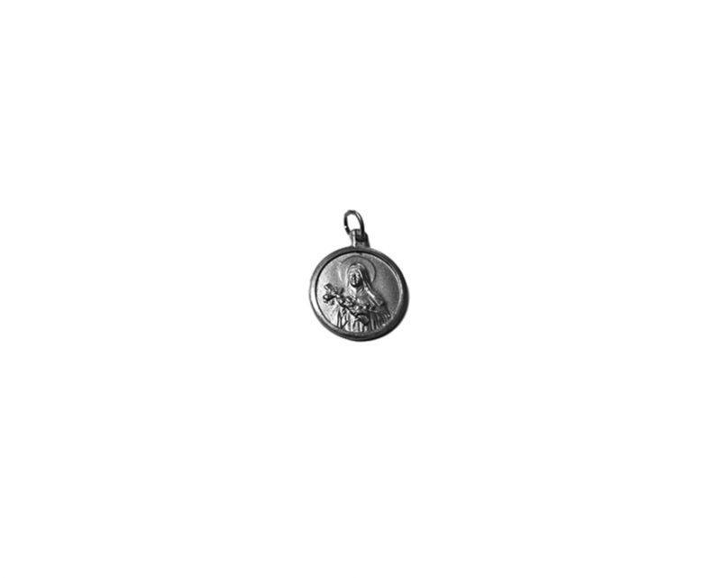 Santa Teresita. 26mm Medalla de alpaca