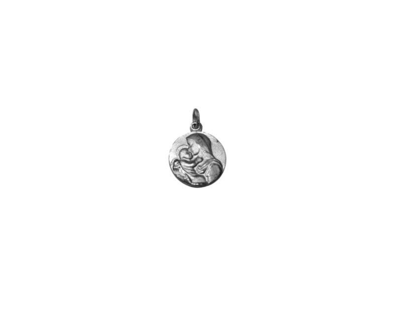 Virgen de la Ternura. 22mm Medalla de alpaca