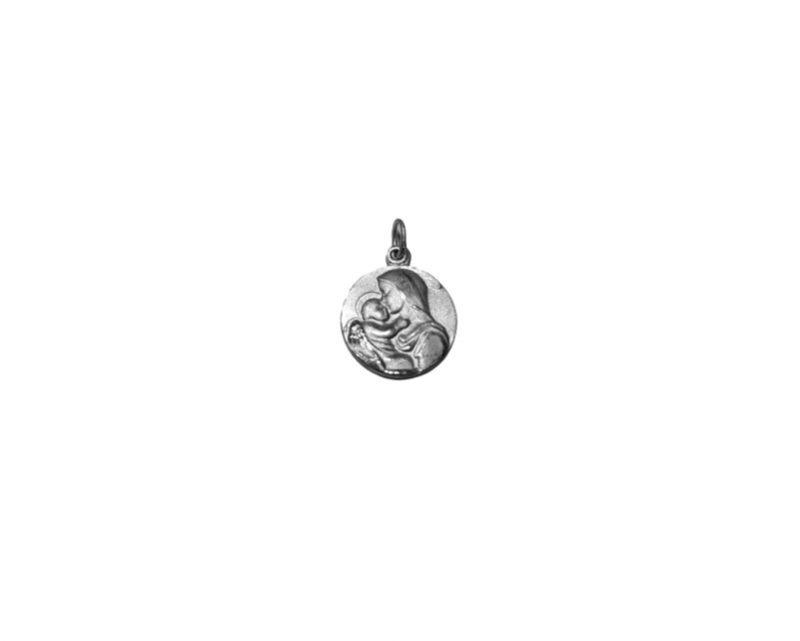 Virgen de la Ternura. 26mm Medalla de alpaca