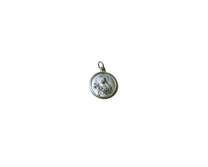 Santa Teresita. 22mm Medalla de alpaca