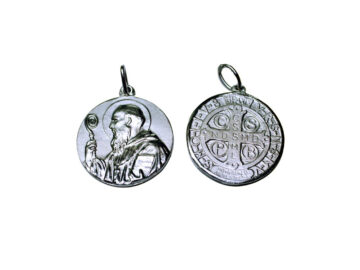 San Benito. 14mm Medalla de alpaca