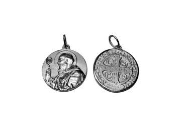 San Benito. 24mm Medalla de alpaca