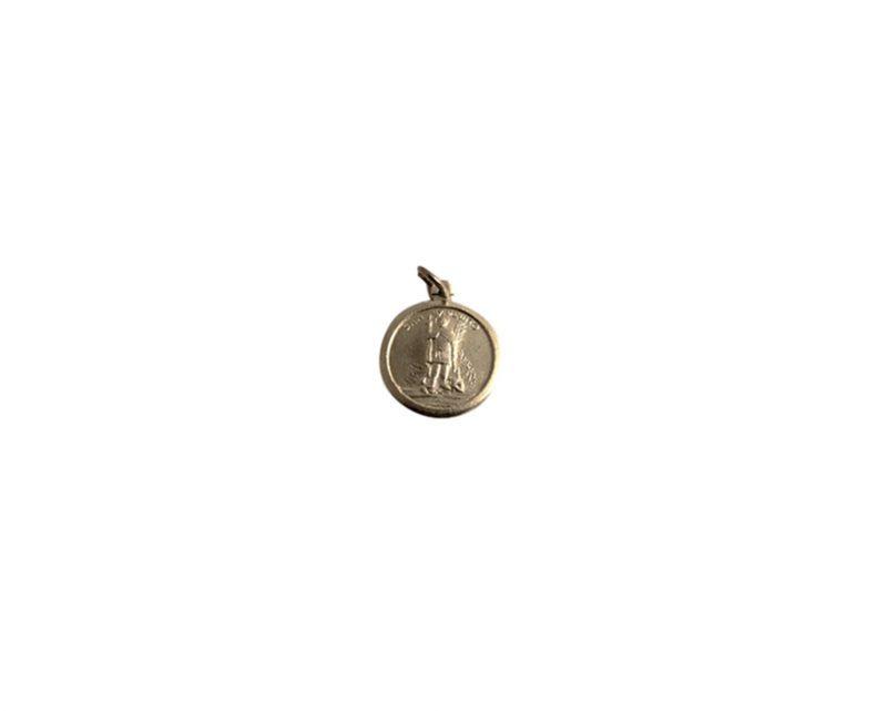 San Expedito. 16mm x 100u Medalla de aluminio