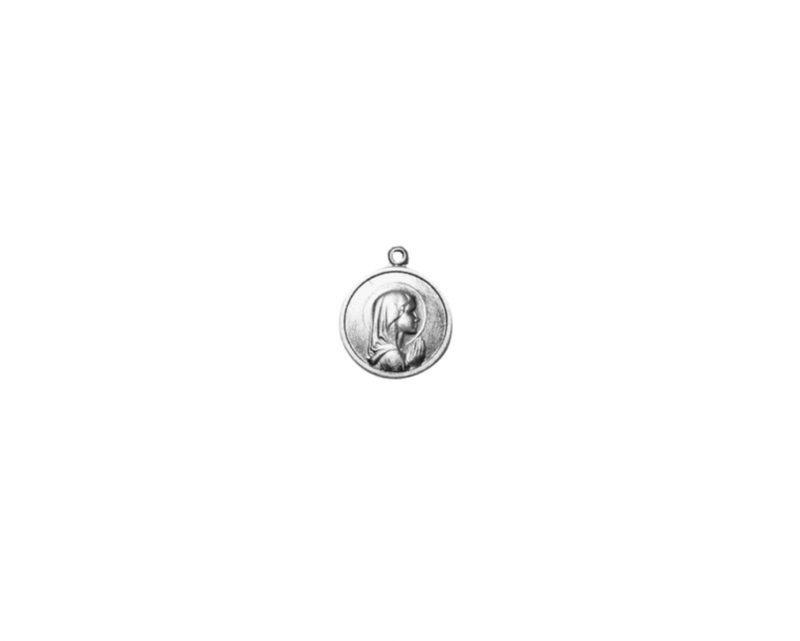 Virgen Niña. 16mm x 100u Medalla de aluminio