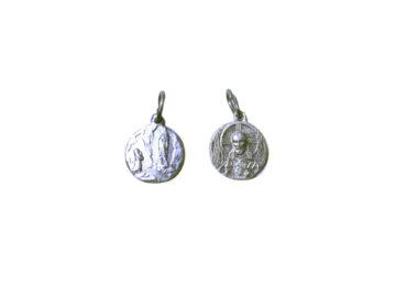 Lourdes. 14mm x 100u Medalla de aluminio