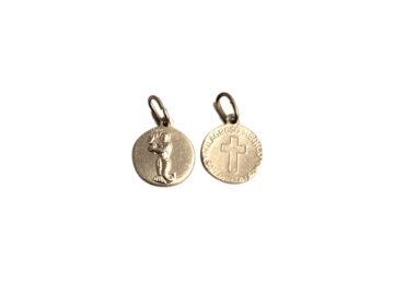 San Pantaleón. 14mm x 100u Medalla de aluminio